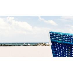 Strand mit Strandkorb